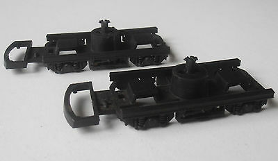 Pair of Lima B4 bogie frames for BR mk2 and mk1 coaches, OO gauge spares