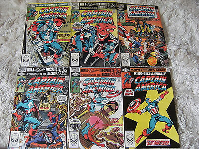 Captain America lot - #262-266 and Annual 5