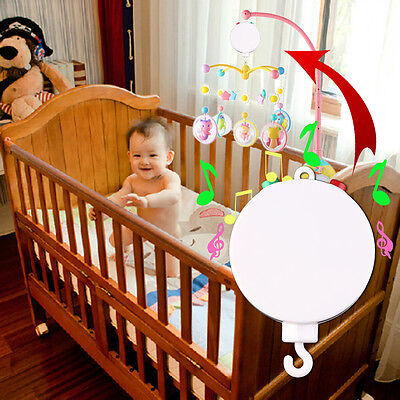 New Baby Crib Mobile Bed Bell Toy Holder Arm Bracket with Wind-up Music Box RS