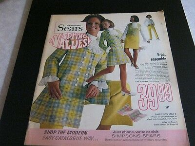 (9) RARE  magazines size Simpsons Sears Canada from 1970