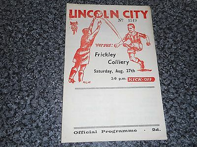 LINCOLN CITY  reserves  v  FRICKLEY COLLIERY  1949/50  MIDLAND LEAGUE ~ AUG 27th
