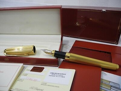 S.T.DUPONT OLYMPIO XL ORPHEO 18K XLARGE GOLD plated FINISHES LIGNES FOUNTAIN PEN