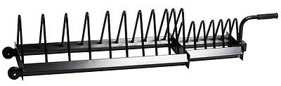 VGC StrengthShop Deluxe Rubber Plate Toaster Rack Weight Storage