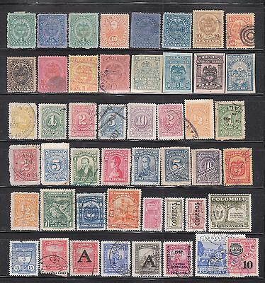 Colombia _  Unchecked used stamps collection (1)