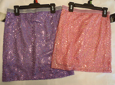 Holiday Editions XL14 16 OR L 10 12 Pink Purple Choice Sequin Skort  Skirt NWT