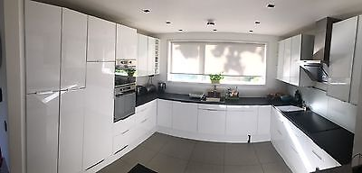 Used Ikea High Gloss Kitchen Units And Appliances Carefully Removed