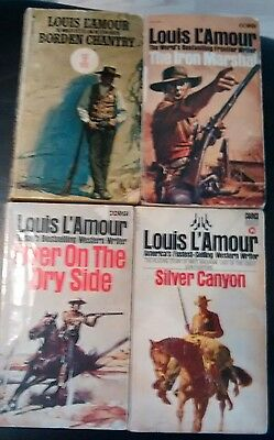 4 Louis L,amour western novels