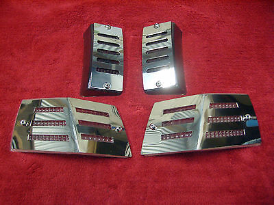Vespa Stainless Steel Front And Rear Light Covers