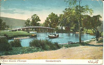 CONSTANTINOPLE, TURKEY - EAUX DOUCES D'EUROPE (COLOUR PRINTED) c1914