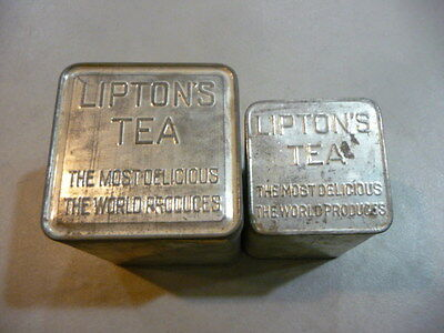 Vintage Metal Lipton's Tea Tin's- FREE SHIPPING
