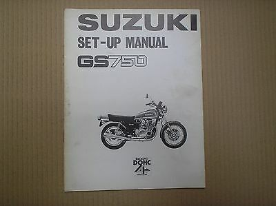 Suzuki GS 750 GS750 July 1976 genuine SET-UP ASSEMBLY manual with wiring diagram
