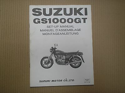 Suzuki GS1000 GS1000G GS1000GT genuine SET-UP ASSEMBLY manual with wiring diagra