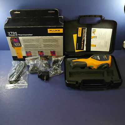 Brand New Fluke VT04 Visual IR Thermometer, Original Box, Case