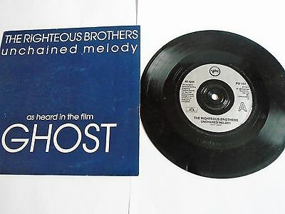 """THE RIGHTEOUS BROTHERS - Unchained Melody - 7""""  single (1990) - Polydor PO 101"""