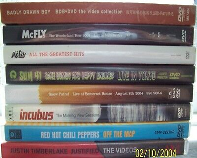 Joblot (8) Music DVDs