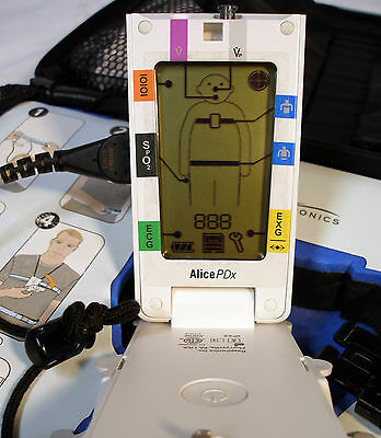 Philips Respironics ALICE PDx Home Sleep Test Device Ref 1043941 w/ Case