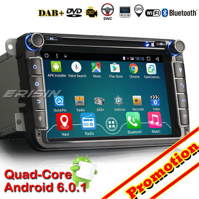 "8"" HD Android6.0 Car Stereo GPS DAB+ For VW PASSAT CC Golf Tiguan Jetta Seat EOS"