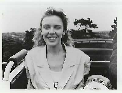 "KYLIE MINOGUE UK 100% OFFICIAL EARLY 9"" x 7"" BLACK & WHITE PUBLICITY PHOTO"