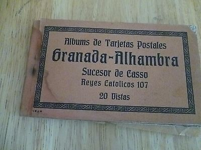 Spain Granada Alhambra   20 Old Vintage Cards  in booklet from 1920-s