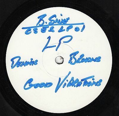 """ GOOD VIBRATIONS. "" dennis brown. MACCABEES UK TEST PRESS BLANK L.P 1989."