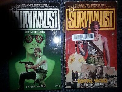 The Survivalist  #1 and #12 by Jerry Ahern (FREE SHIPPING)