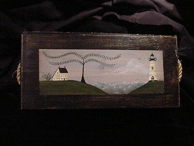 Beautiful Hand Crafted/Painted Wood Seaman's Chest Trinket/Jewelry Box - Signed