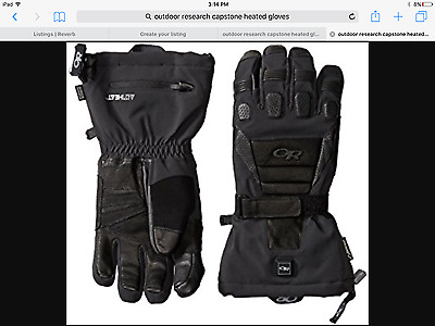 Outdoor Research Mens Capstone Heated Gloves, Black, X-Large tg