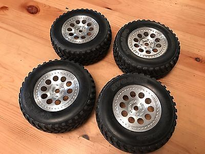 Vintage RC Car 1/8 Wheels & Tires Kyosho 17mm hex - Inferno DX ST Landmax F150