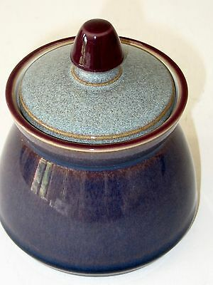 A Denby 'Storm' sugar pot and lid in very good condition .