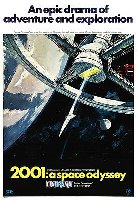 2001: A Space Odyssey Movie Poster Print - 1968 - Sci-Fi - One (1) Sheet Artwork
