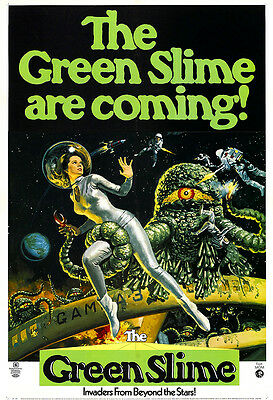 The Green Slime Movie Poster Print - 1968 - Science Fiction - 1 Sheet Artwork