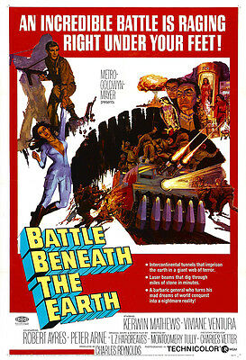 Battle Beneath The Earth Movie Poster Print - 1967 - Sci-Fi - 1 Sheet Artwork