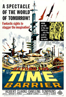 Beyond The Time Barrier Movie Poster Print - 1960 - Sci-Fi - 1 Sheet Artwork