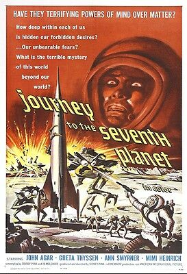 Journey To The 7th Planet Movie Poster Print - 1962 - Sci-Fi - 1 Sheet Artwork