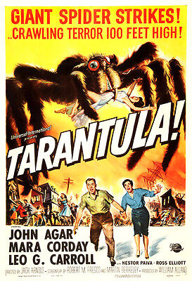 Tarantula! Movie Poster Print - 1955 - Science Fiction - 1 Sheet Artwork