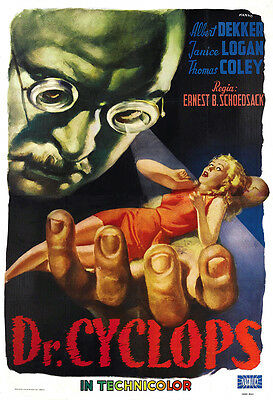 Dr. Cyclops Movie Poster Print - 1940 - Science Fiction -  One (1) Sheet Artwork
