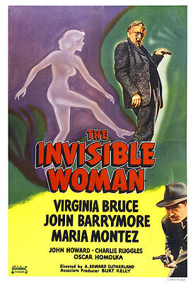 The Invisible Woman Movie Poster Print - 1940 - Sci-Fi - One (1) Sheet Artwork
