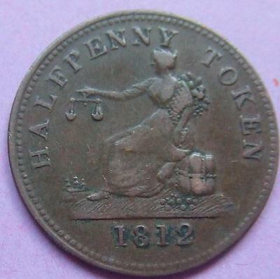 Canada - Copper Halfpenny Token.1812 - really nice condition...........Ju207