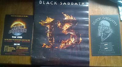 Two Black Sabbath   Flyers   And A Small Poster