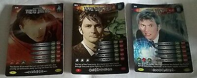 Three  Doctor Who Battles In Time Rare Cards,  The Tenth Doctor