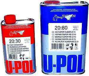 U-Pol 2k S 2080 Clearcoat lacquer kit high gloss kit ,