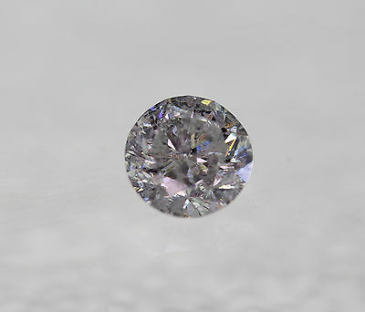 Certified 0.28 Carat D SI3 Round Brilliant Enhanced Natural Diamond 4.11mm 3VG