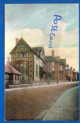Old Postcard Lloyds Bank Bromsgrove Worcestershire Nr Redditch Droitwich Rednal