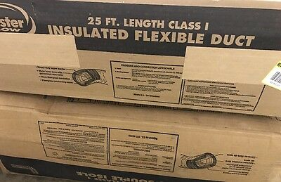 "Lot of (2) 4"" x 25' & 6"" x 25"" Insulated Flexible Duct T824"