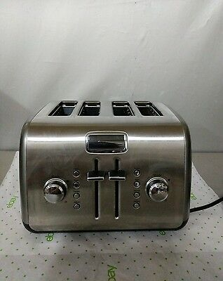 KitchenAid Digital Display KMT422CU1 4-Slice Stainless Steel Toaster Super Nice