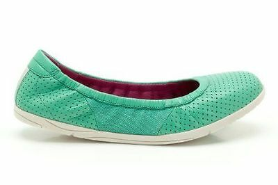 New Ladies Clarks Illya Shine Mint Leather Shoes Size 4 D