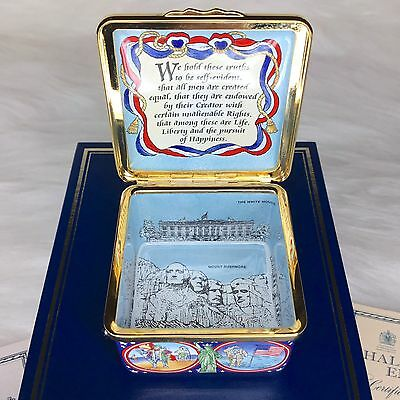 "Halcyon Days Box ""Celebration Of History In America "" Limited Edition 380/500"