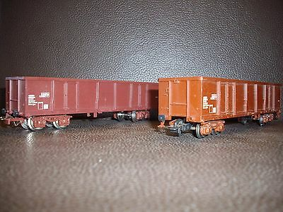 Jouef HO lot 2 wagons tombereau à bogies SNCF ref 6572
