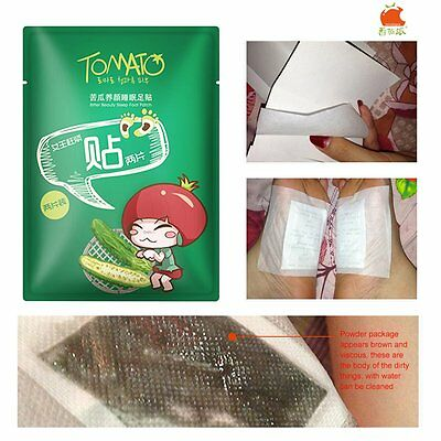 TOMATO PIE Balsam Pear Massage Sleep Foot Care Herbal Patches Detox Pads RS