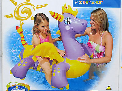 Inflatable Magic Dragon Ride-on by Intex #56523